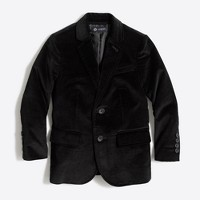 Kids' Thompson stretch velvet blazer