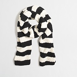 Factory striped knit scarf