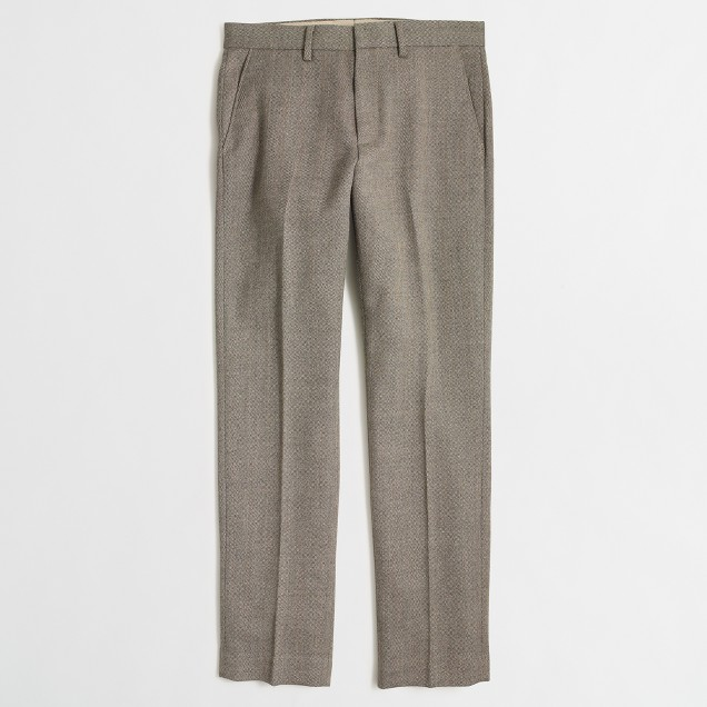 Slim Bedford herringbone wool dress pant