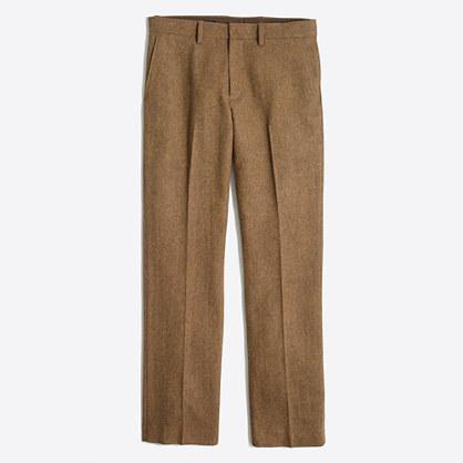 Slim Bedford herringbone wool dress pant