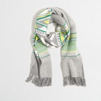 Geometric Fair Isle scarf