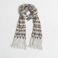 Striped Fair Isle scarf