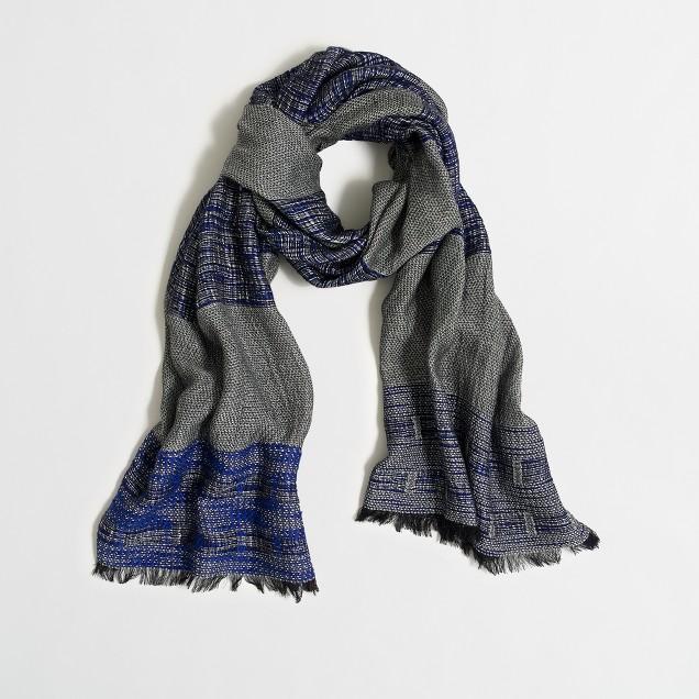 Sketched-stripe scarf