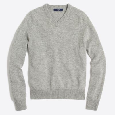 Tall lambswool V-neck sweater