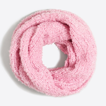 Girls' fluffy infinity scarf