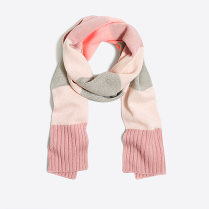 Girls' mixed-stripe scarf