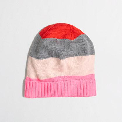 Girls' mixed-stripe hat