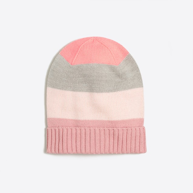Girls' mixed-stripe hat