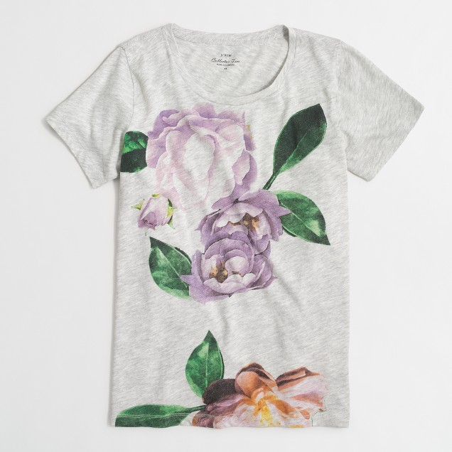 Exploded flower collector T-shirt in airy cotton