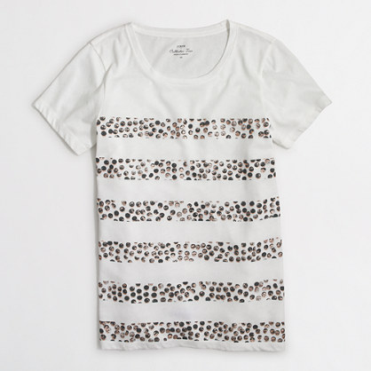 Dotted stripes collector T-shirt in airy cotton