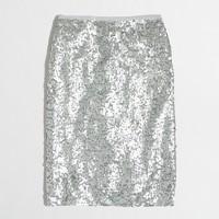Petite sequin pencil skirt