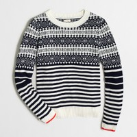 Fair Isle sweater with stripes
