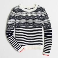 Fair Isle sweater with stripes