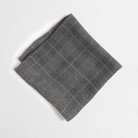Glen plaid pocket square