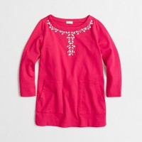 Girls' embellished tunic