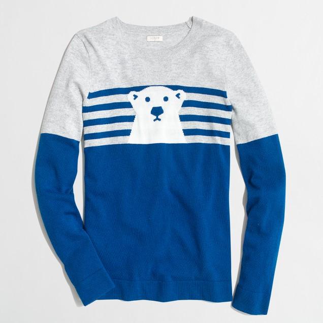 Intarsia polar bear sweater
