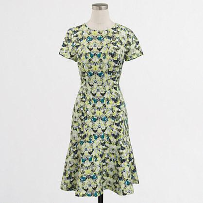 Petite printed flared dress