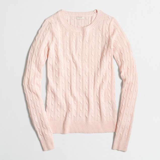 Wool-blend cable-knit sweater