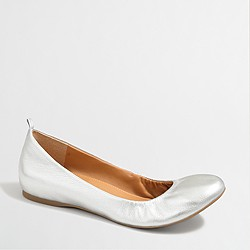 Anya metallic leather ballet flats