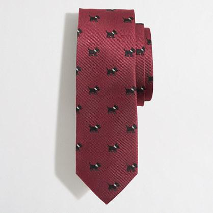 Tall Scottie dog tie