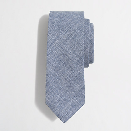 Tall chambray tie