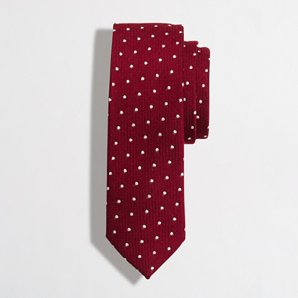 Tall wool dot tie