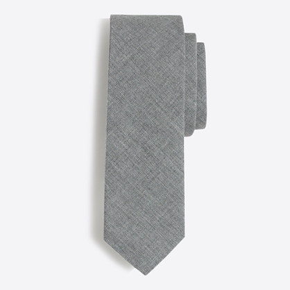 Tall heathered poplin tie
