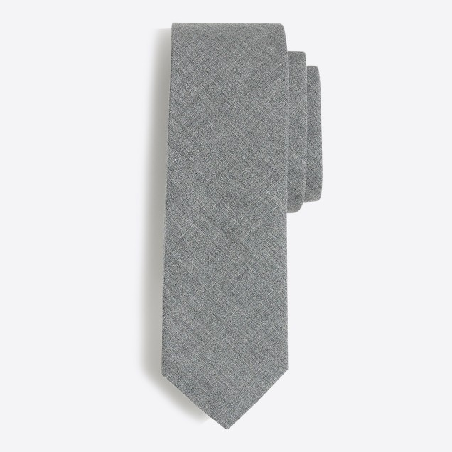 Tall heathered poplin tie
