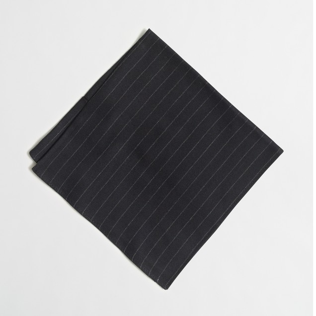 Brushed twill pocket square