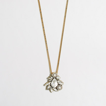 Winding crystals pendant necklace
