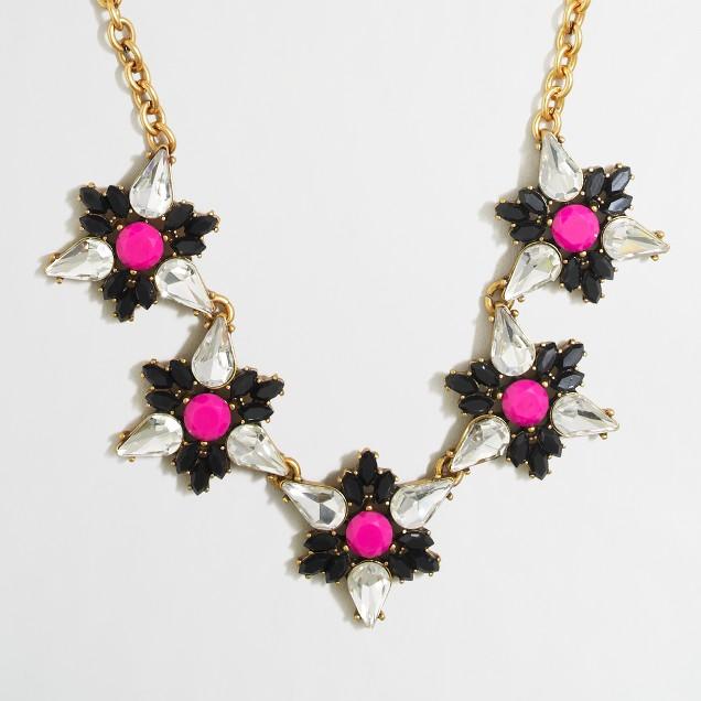 Pinwheel flower necklace