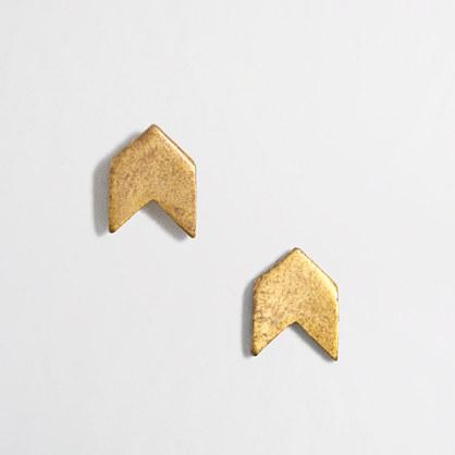 Golden arrow stud earrings