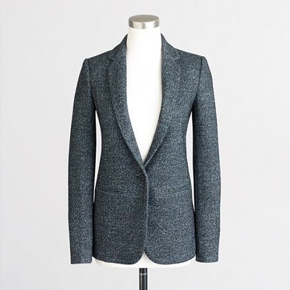 Speckled tweed blazer