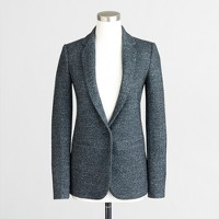 Petite speckled tweed blazer