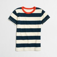Boys' striped contrast ringer T-shirt