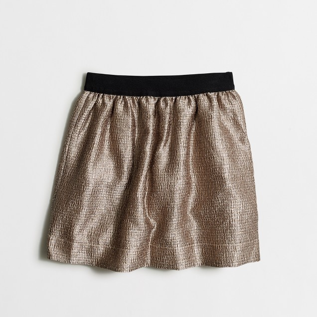 Girls' gold lamé skirt