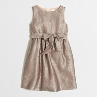 Girls' gold lamé dress