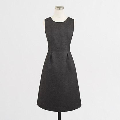 Petite bonded herringbone dress