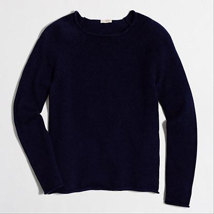 Cotton mockneck sweater