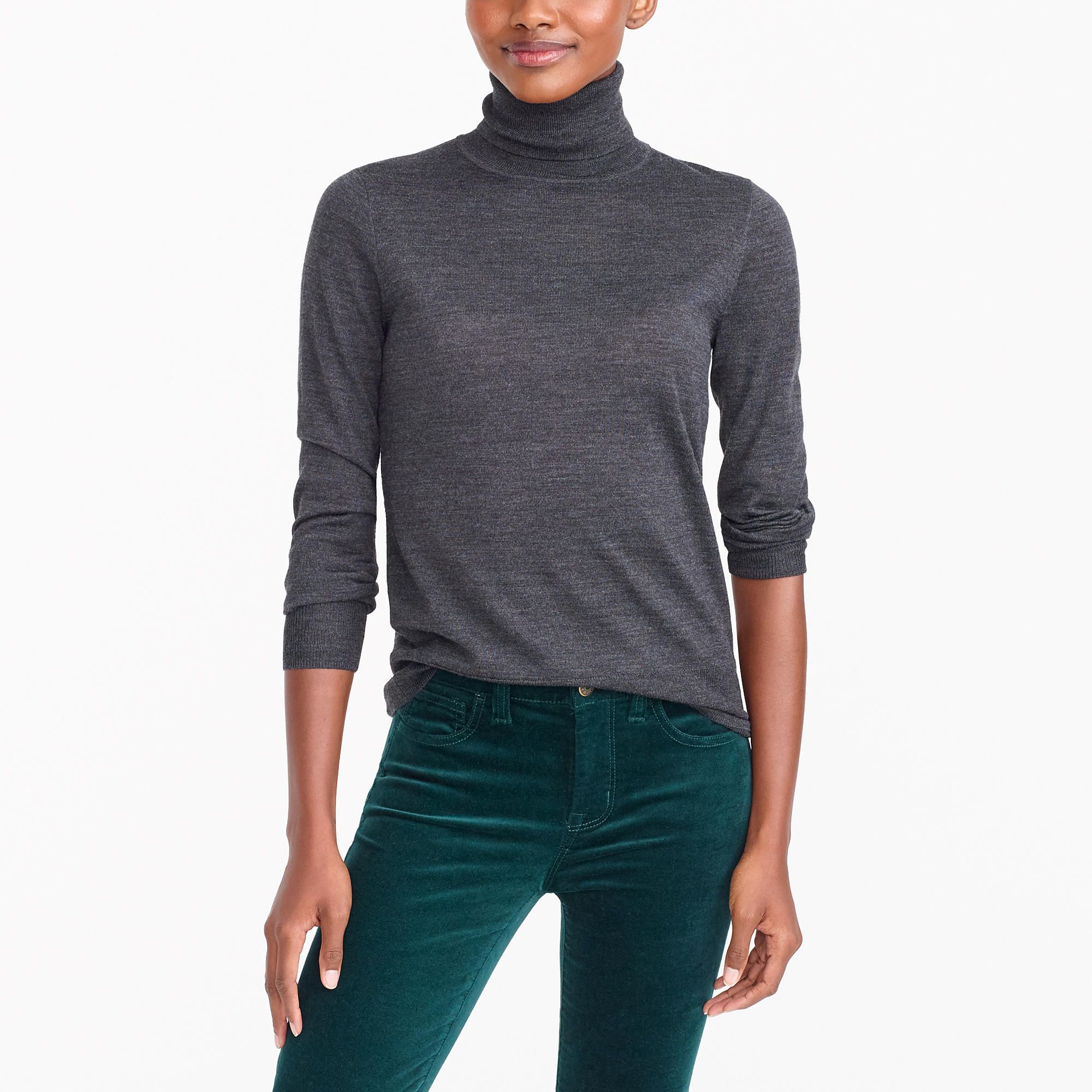 Merino wool turtleneck sweater : FactoryWomen turtlenecks | Factory