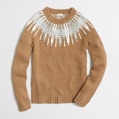 Intarsia Fair Isle sweater