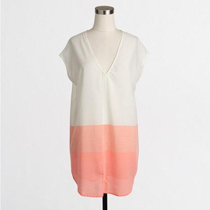 Metallic-striped pocket tunic