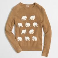 Jeweled elephant sweater