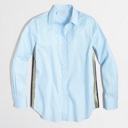 Sequin-striped shirt