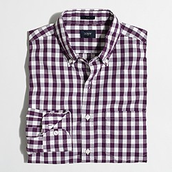 Tall slim patterned washed shirt