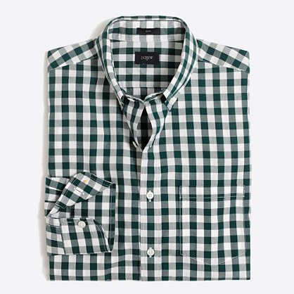 Slim patterned washed shirt