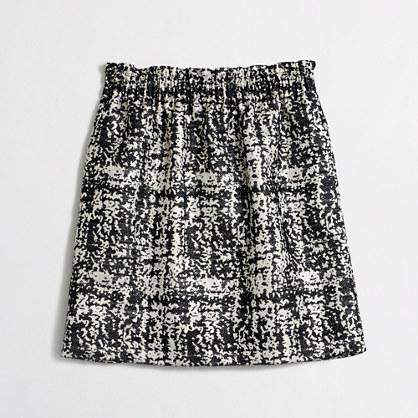 Jacquard pleated mini skirt