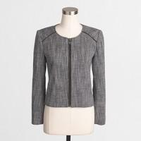 Tweed cropped suiting jacket