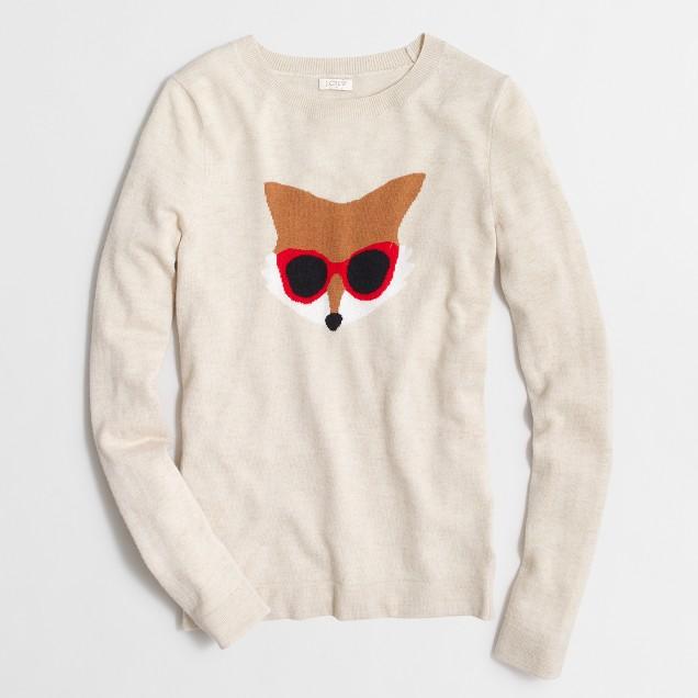 Intarsia fox sweater