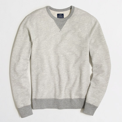 Tall contrast-trim sweatshirt